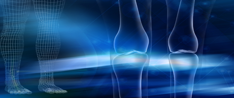 Schedule 65 V A leg bone x-ray on abstract background