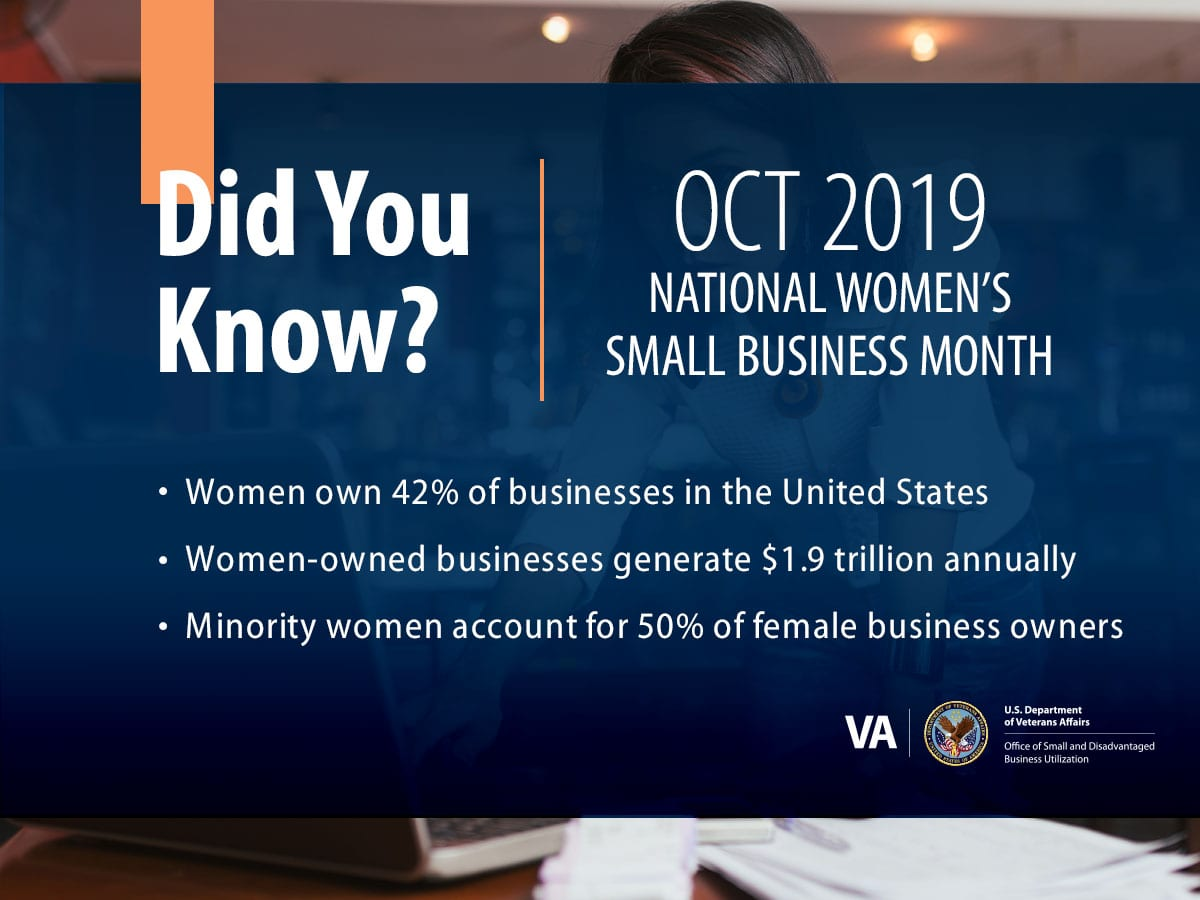 October is National Women's Small Business Month