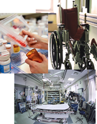 Medical, Surgical, and Pharmaceutical equipment/supplies collage