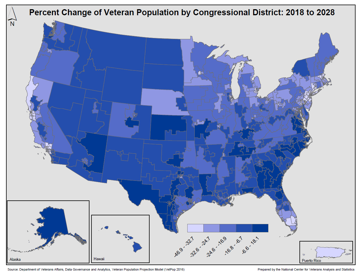 VA Facilities by Congressional District maps
