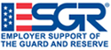 """ESGR logo in dark blue with the """"E"""" designed as the American Flag."""