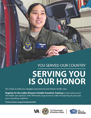 Women's Health Transition Training Air Force Poster Option 1