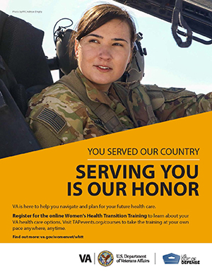 Women's Health Transition Training Army Poster Option 1