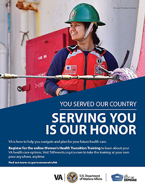 Women's Health Transition Training Coast Guard Poster Option 1