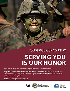 Women's Health Transition Training Marines Poster Option 1