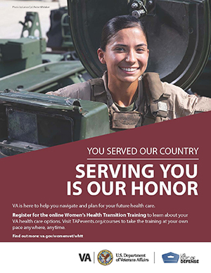 Women's Health Transition Training Marines Poster Option 2