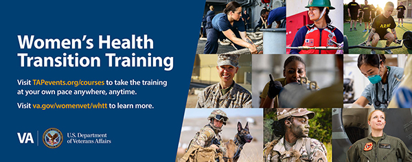 Women's Health Transition Training web banner